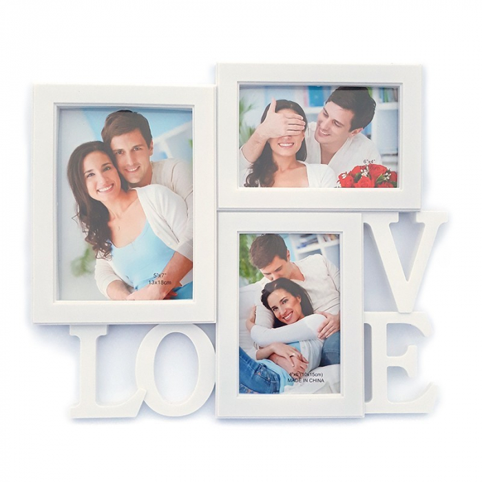 Rama colaj Love 3 poze, 35x30 cm, fotografii incluse 0