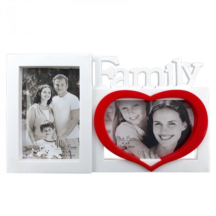 Rama foto colaj 2 poze - Family, 30x18 cm, fotografii incluse 0