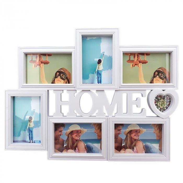 Rama foto colaj 6 poze - Home, 50x38 cm, fotografii incluse 0
