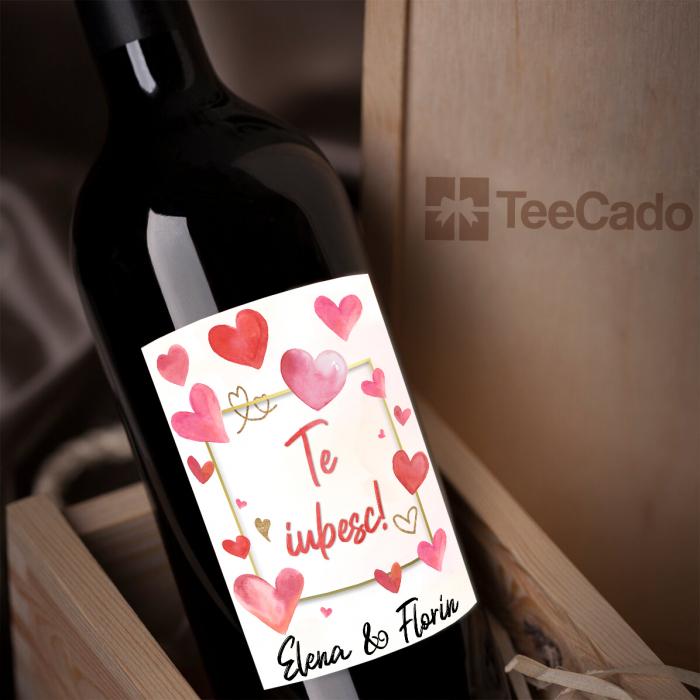 Vin personalizat Te iubesc 0