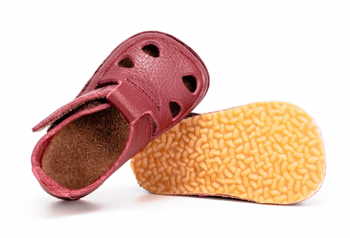 Săndăluțe Barefoot grena [1]