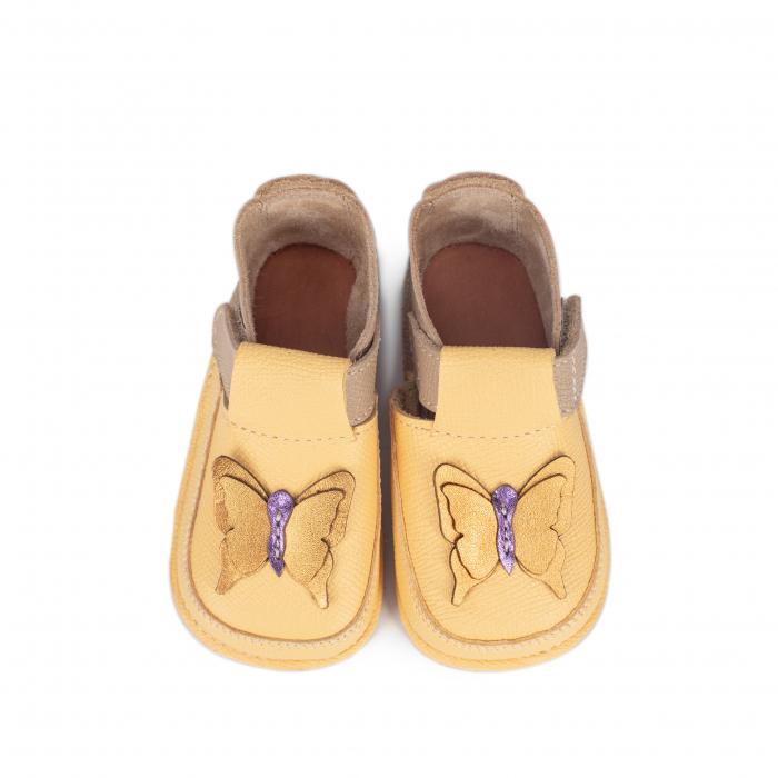 Papucei Barefoot Fluturas galben [2]