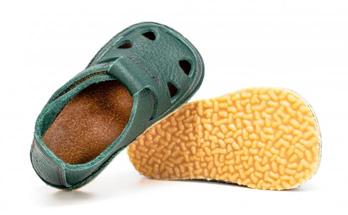 Săndăluțe Barefoot verde [1]