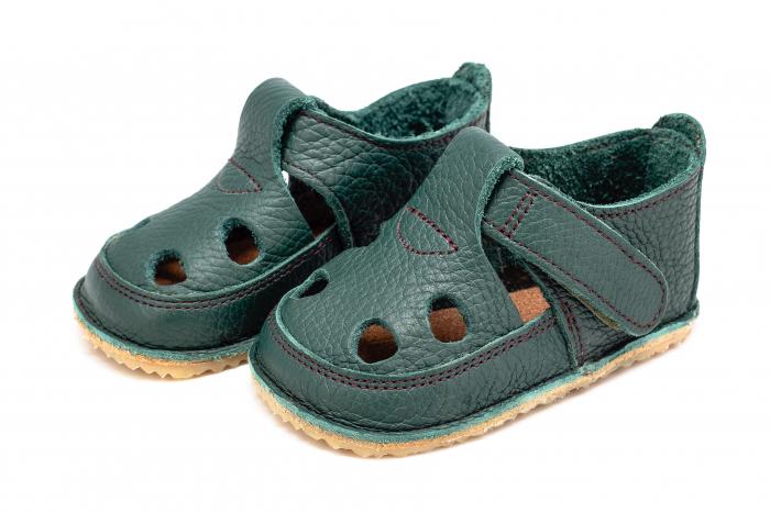 Săndăluțe Barefoot verde [0]