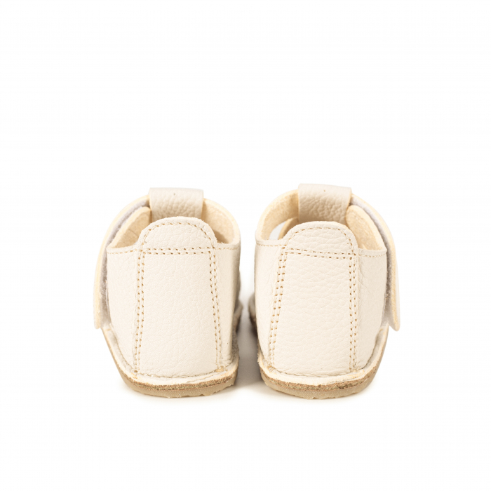 Săndăluțe Barefoot alb/crem [4]