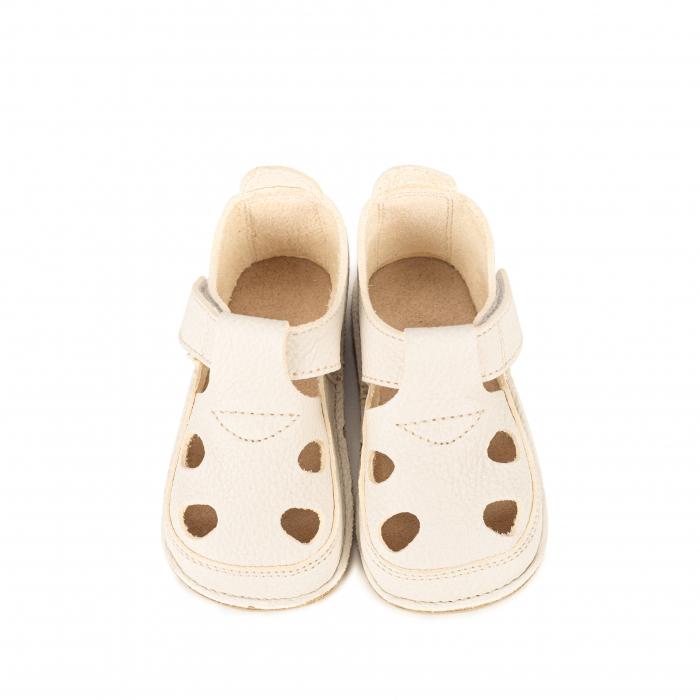 Săndăluțe Barefoot alb/crem [0]