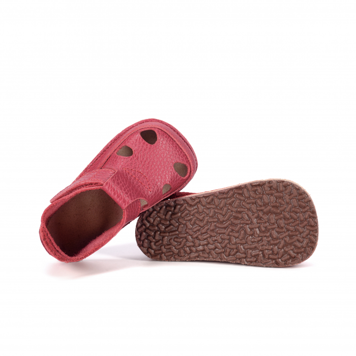 Săndăluțe Barefoot roșu zmeuriu [3]