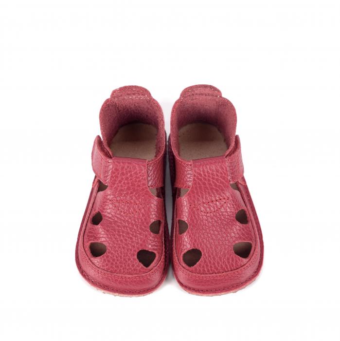 Săndăluțe Barefoot roșu zmeuriu [0]