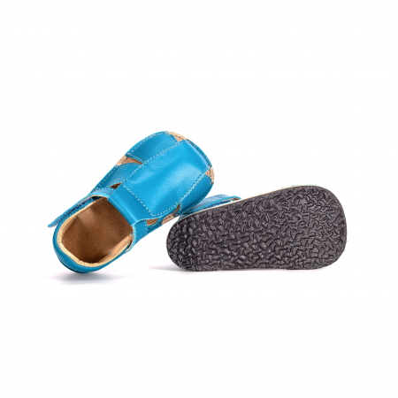 Săndăluțe Barefoot M2 Albastre [2]