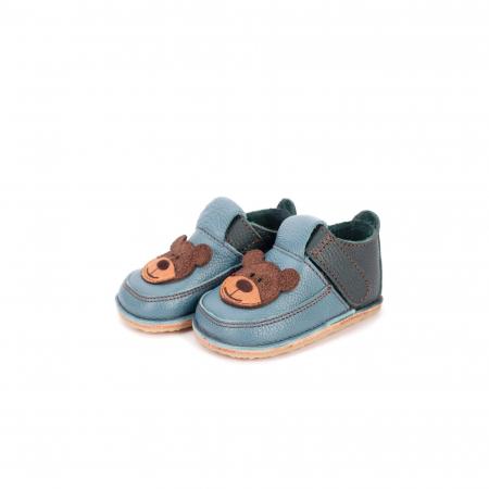 Papucei Barefoot Ursulet albastru [0]