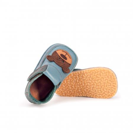 Papucei Barefoot Ursulet albastru [1]