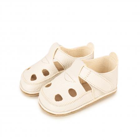 Săndăluțe Barefoot alb/crem [1]