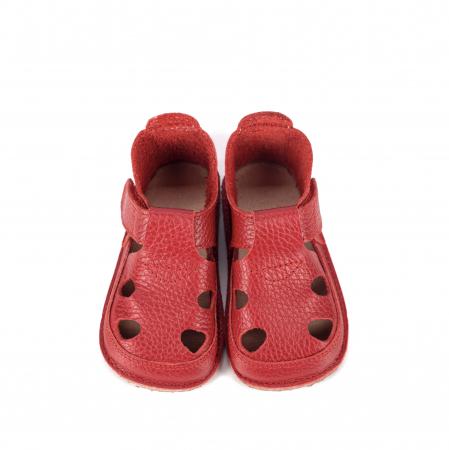 Săndăluțe Barefoot roșii [0]