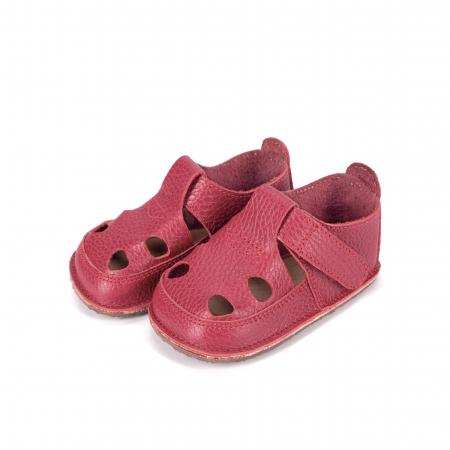 Săndăluțe Barefoot roșu zmeuriu [1]