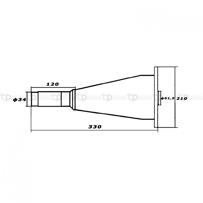 Butuc conic coasă rotativă KM 20 22 [1]