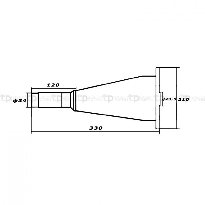 Butuc conic coasă rotativă KM 20 22 [3]