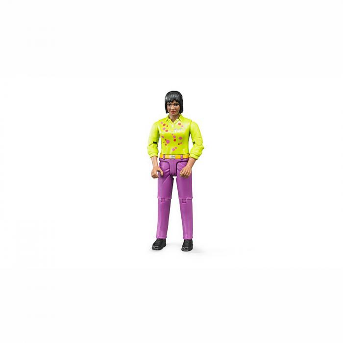 Jucărie - Figurină femeie cu cămașă verde și blugi mov [0]
