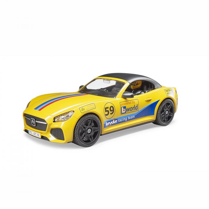 Jucărie - Mașină de teren cu benă Dodge RAM 2500, platformă, mașină Roadster și figurină [4]