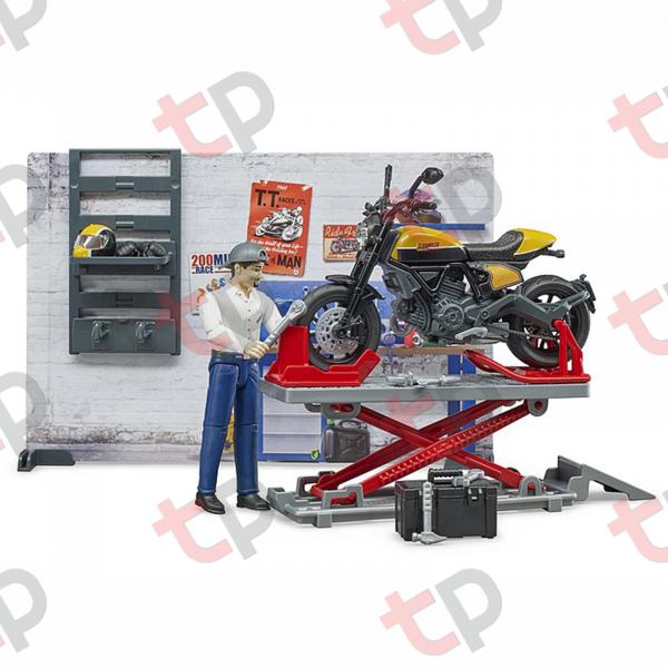 Set atelier de service cu motociclete Ducati ,figurină mecanic și accesorii 2020 [0]