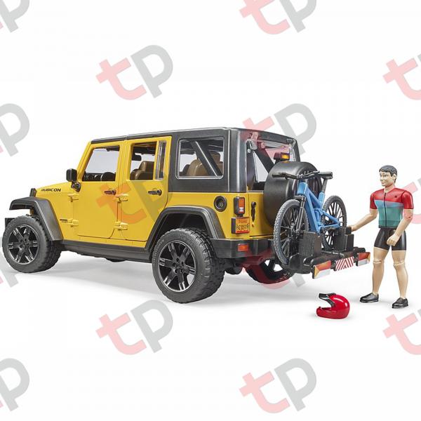 Mașină de teren Jeep Wrangler Rubicon unlimited cu o bicicletă de munte și biciclist  2020 [2]