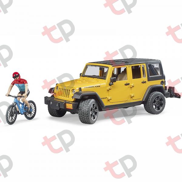 Mașină de teren Jeep Wrangler Rubicon unlimited cu o bicicletă de munte și biciclist  2020 [0]