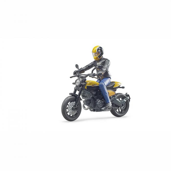Motocicletă Ducati Scrambler cu figurină motociclist - 2020 [0]