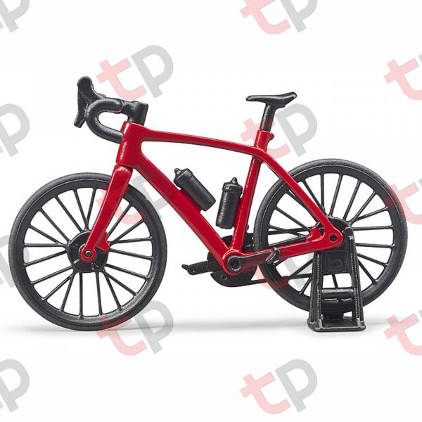 Jucărie - Bicicletă roșie de curse cu biciclist [3]