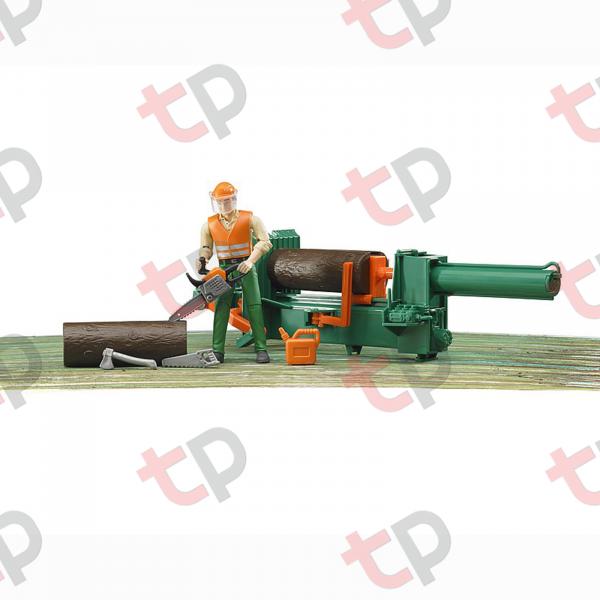 Jucărie - Set figurină lucrător forestier cu accesorii [3]