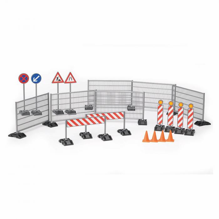 Jucărie - Set șantier cu garduri, panouri si piloni [1]