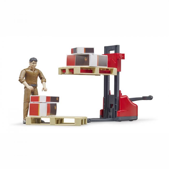 Set figurină lucrător curierat UPS cu accesorii [1]
