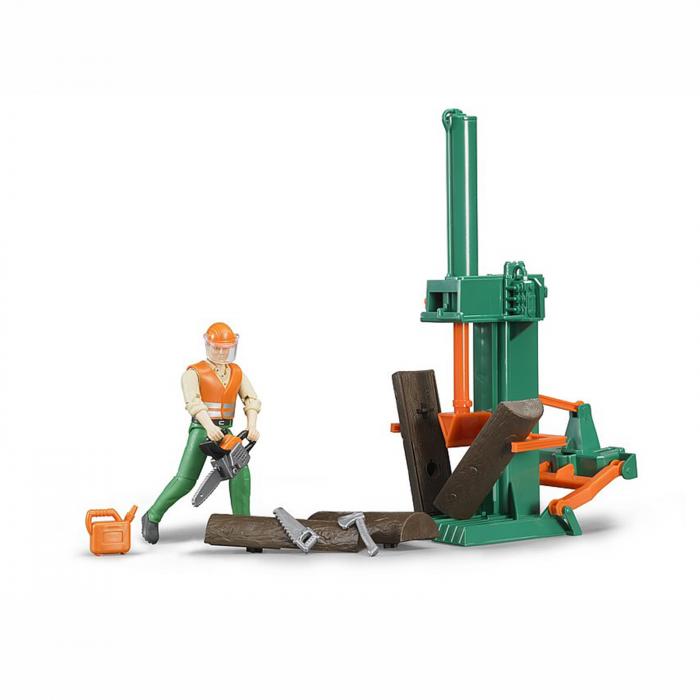 Jucărie - Set figurină lucrător forestier cu accesorii [1]