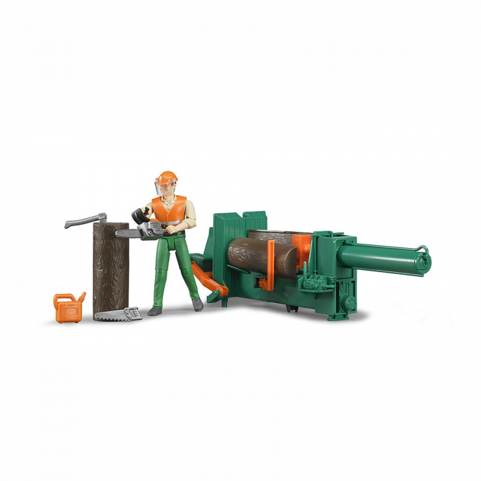 Jucărie - Set figurină lucrător forestier cu accesorii [0]
