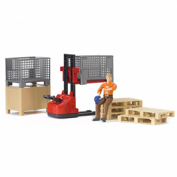 Jucărie - Set figurină lucrător magazie cu accesorii [0]