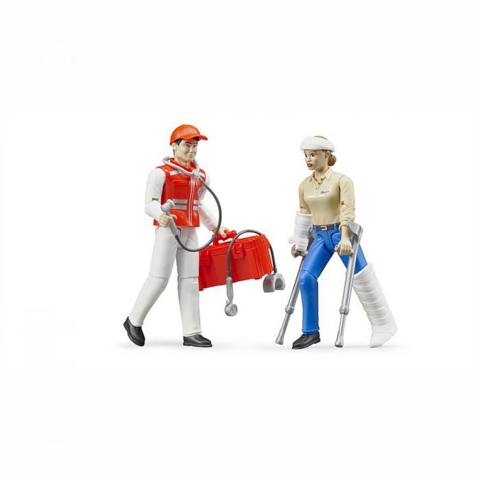 Set figurine asistent prim ajutor și pacient cu accesorii [2]
