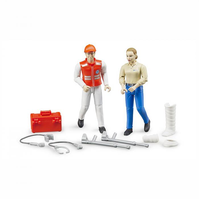 Set figurine asistent prim ajutor și pacient cu accesorii [0]