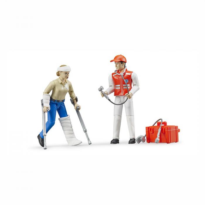 Set figurine asistent prim ajutor și pacient cu accesorii [1]