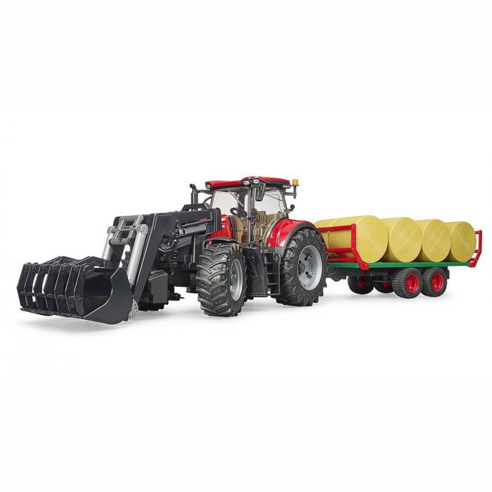 Tractor Case IH Optum 300 CVX cu încărcător frontal și remorcă baloți [2]