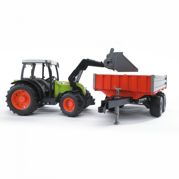 Jucărie - Tractor Claas Nectis 267F cu remorcă basculabilă și încărcător frontal [4]