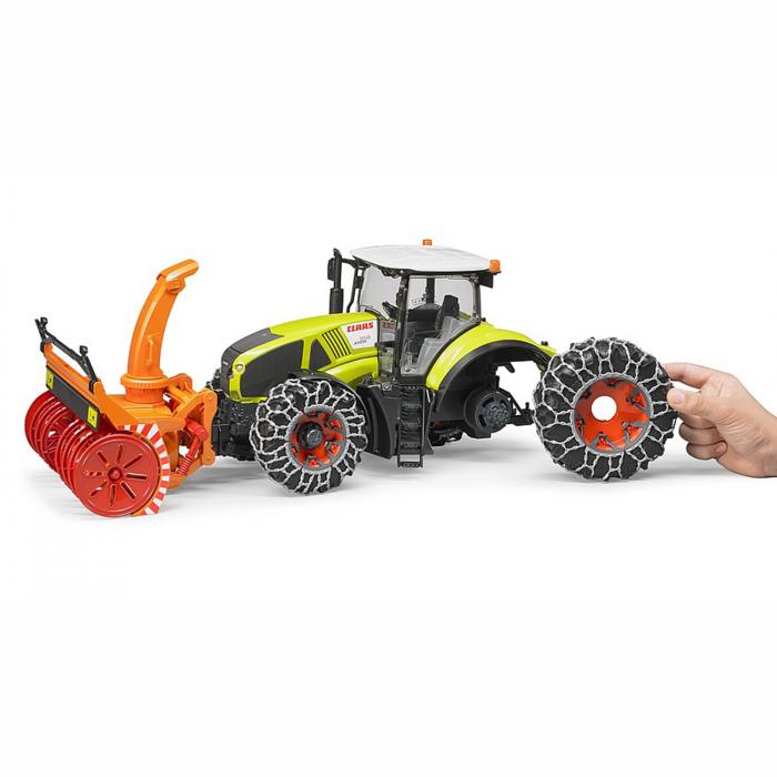 Jucărie - Tractor cu Lanțuri de Zăpadă și Freză Claas Axion 950 [2]