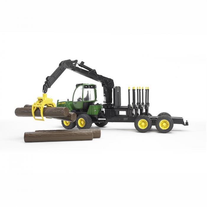 Jucărie - Tractor forestier John Deere 1210E  cu 4 bușteni și graifer [4]
