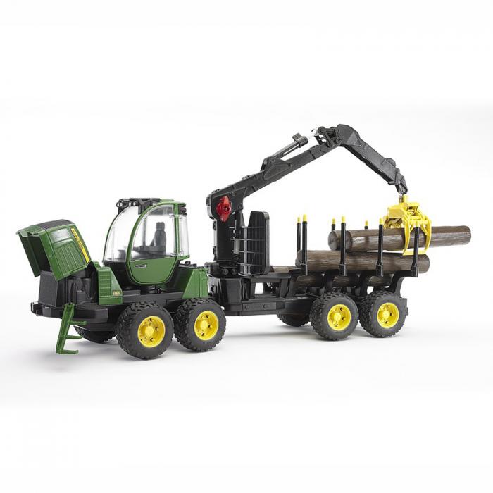 Jucărie - Tractor forestier John Deere 1210E  cu 4 bușteni și graifer [3]