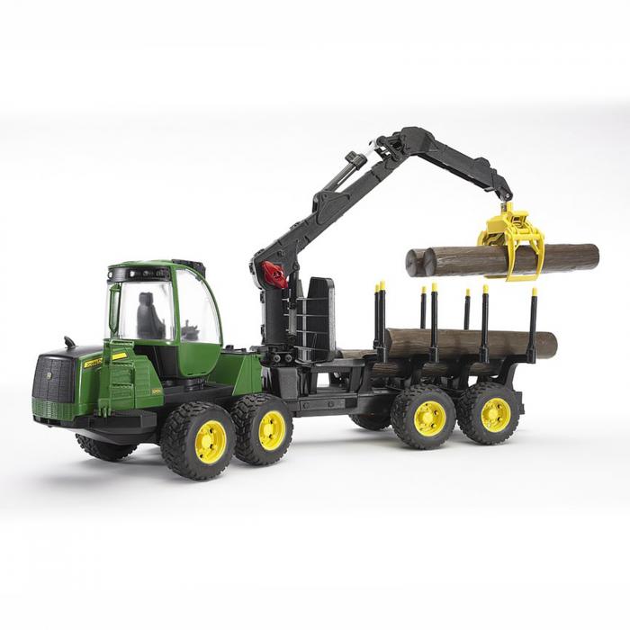 Jucărie - Tractor forestier John Deere 1210E  cu 4 bușteni și graifer [2]