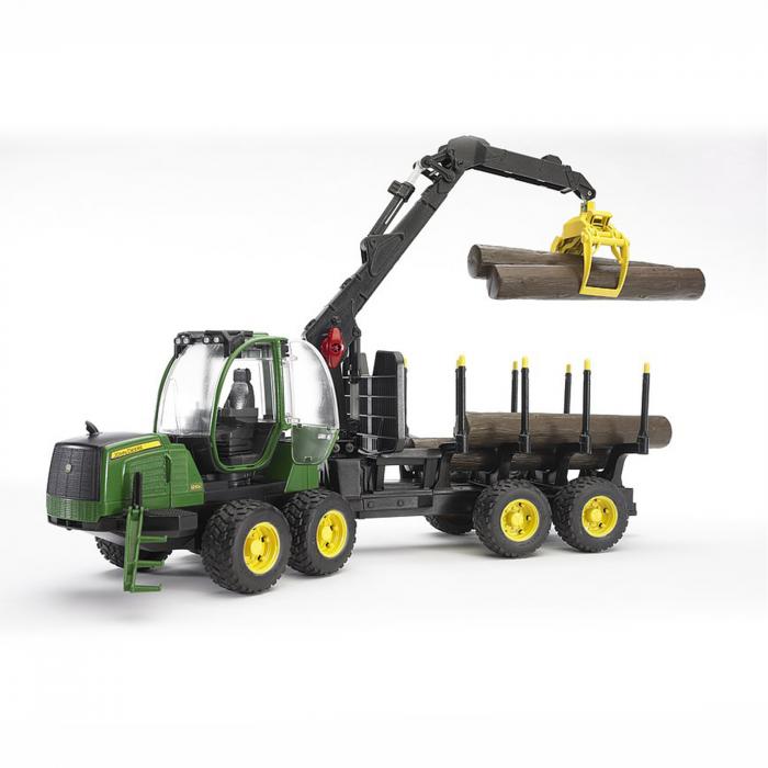 Jucărie - Tractor forestier John Deere 1210E  cu 4 bușteni și graifer [1]