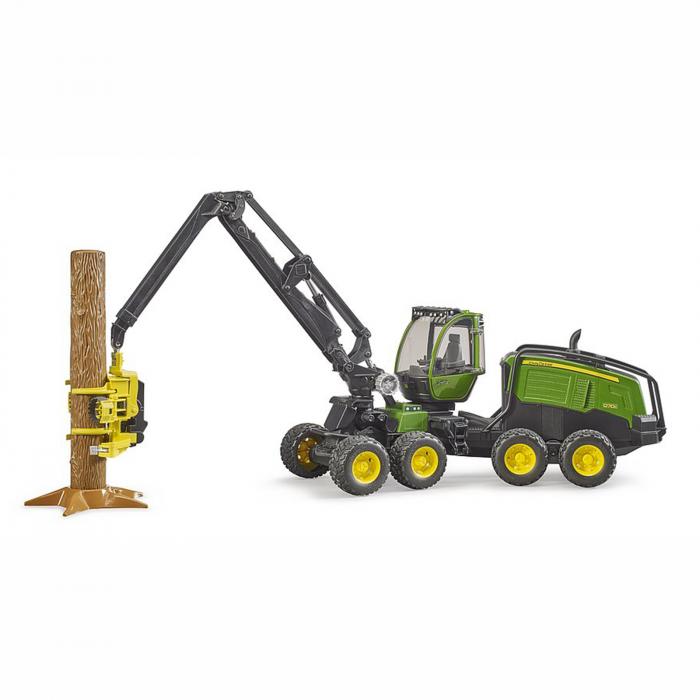 Tractor forestier John Deere 1270G cu graifer și trunchi copac - 2020 [0]