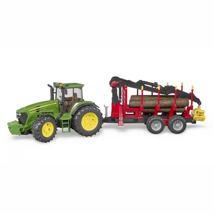 Jucărie - Tractor John Deere 7930 cu remorcă lemne și bușteni [0]