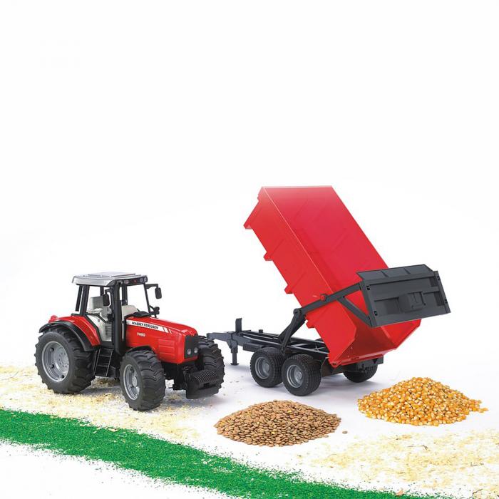 Jucărie - Tractor Massey Ferguson 7480 cu Remorcă Basculabilă [1]