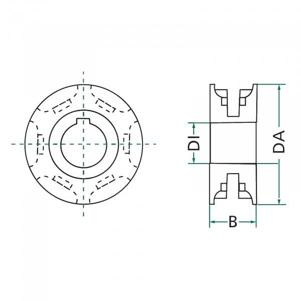 Pinion mig 9x31 - ø35 [3]