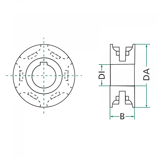 Pinion mig 9x31 - ø35 [1]