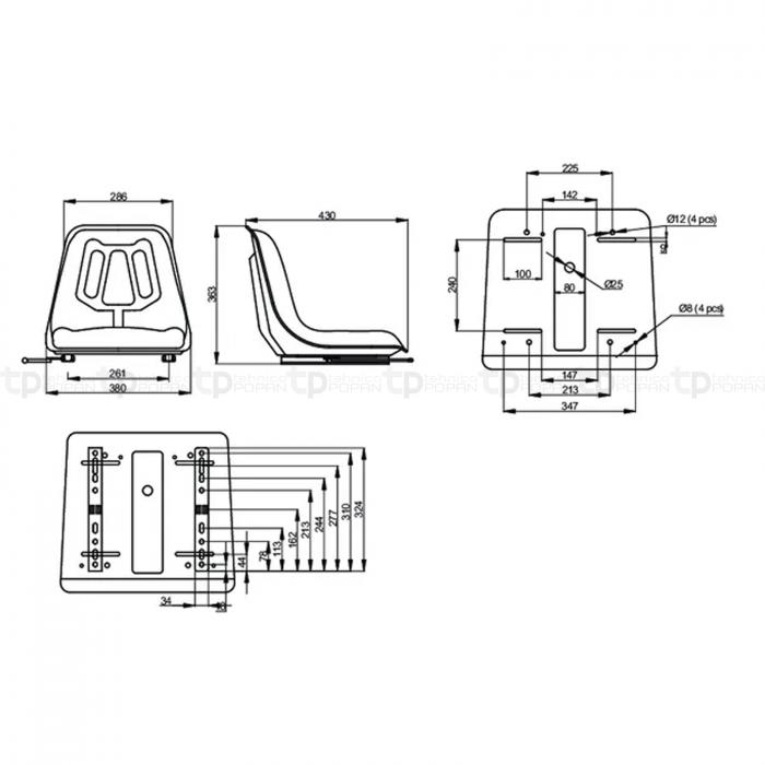 Scaun galben - PVC - gopart [1]