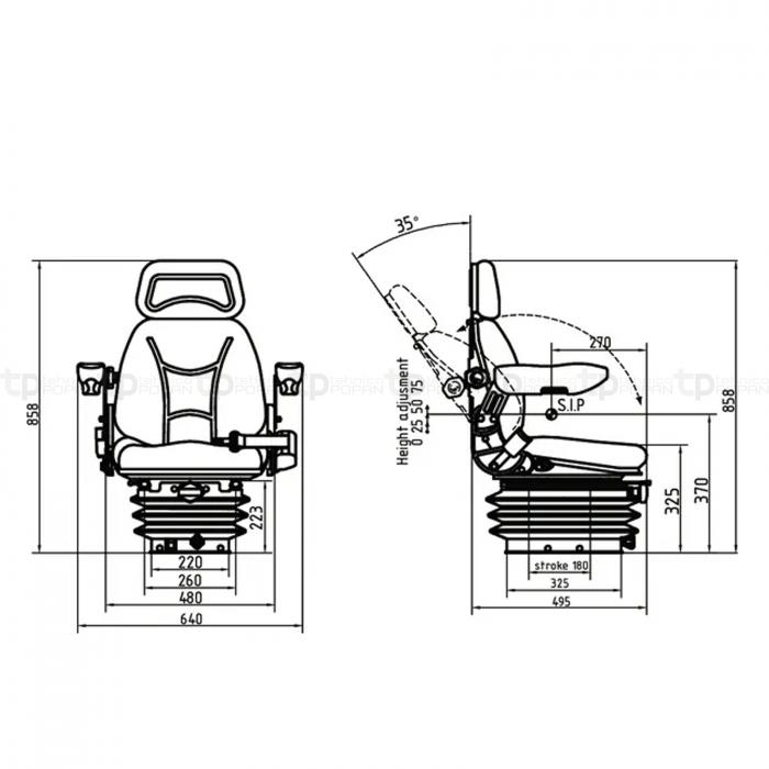 Scaun material textil cu suspensie mecanica - gopart [2]